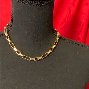 Golden styled chain necklace